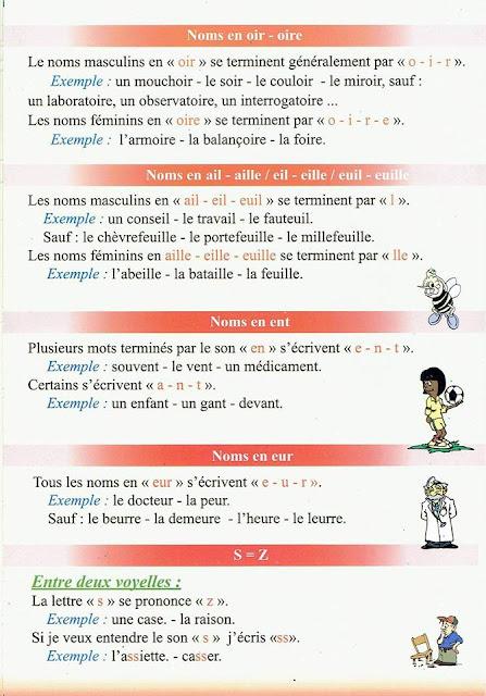 الخامسة ابتدائي  بعض من قواعد اللغة الفرنسية 5َAEP français