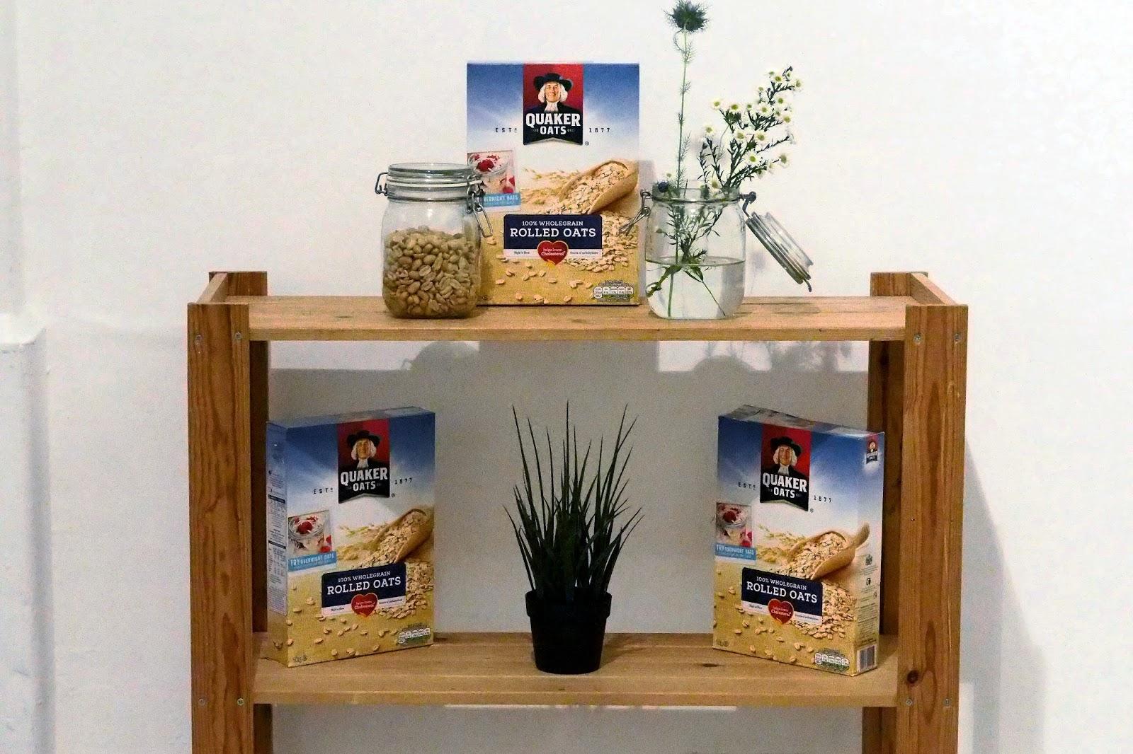 Breakfast cereals on shelf
