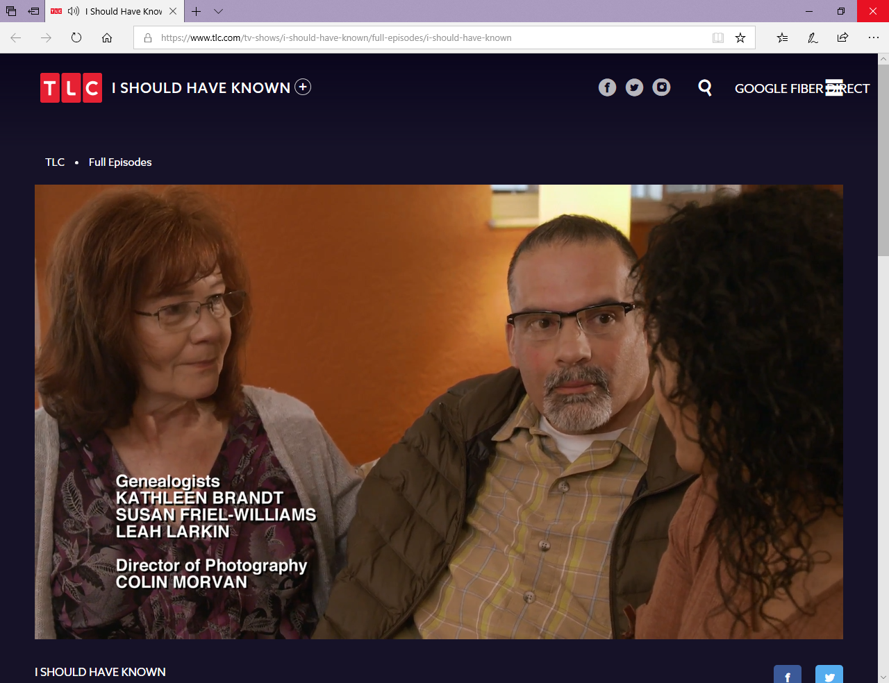 """Get Out Tlc Tv Show Full Episodes a3genealogy: new genealogy tv show - """"i should have known"""""""