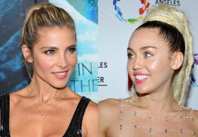 Miley Cyrus sale a comer con Elsa Pataky, la cuñada de Liam Hemsworth.