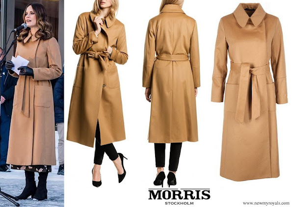 Princess Sofia wore Morris Stockholm Lady Marceau Camel Coat