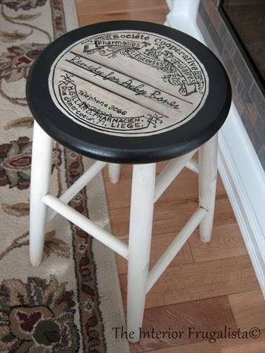Graphite Paper Image Transfer Technique Stool