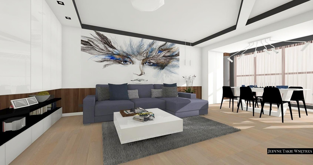 Ekskluzywne wnętrza apartamentu w Krakowie
