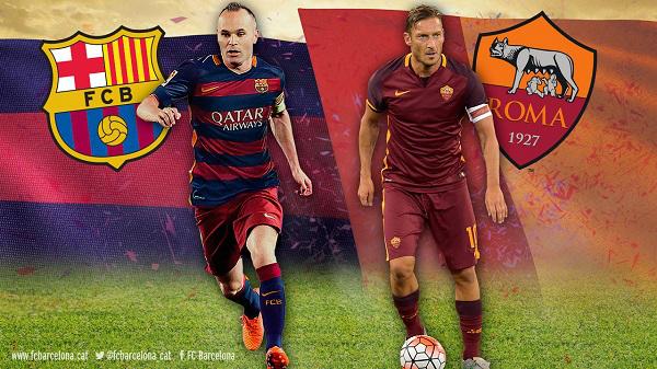 موعد مباراة برشلونة وروما اليوم بتاريخ 04-04-2018 دوري أبطال أوروبا
