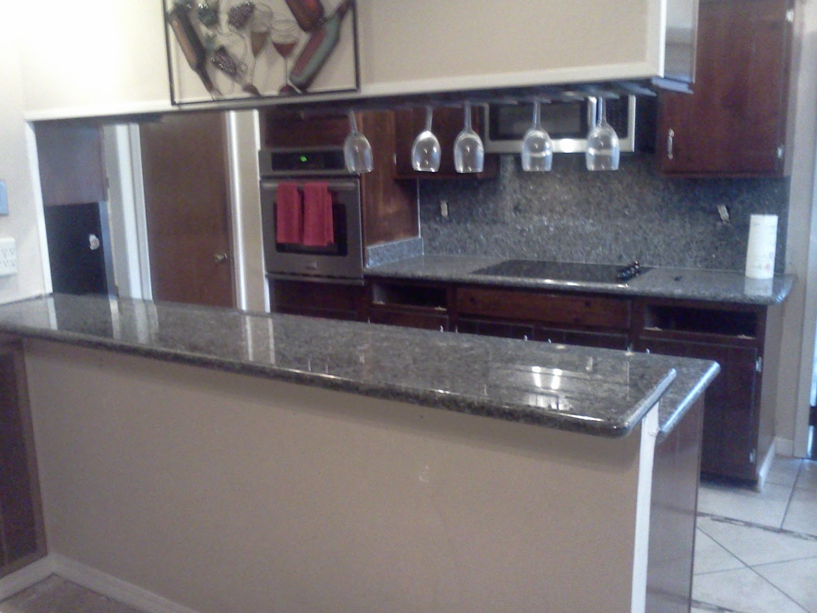 blue pearl granite kitchen aluminum cabinets style countertop