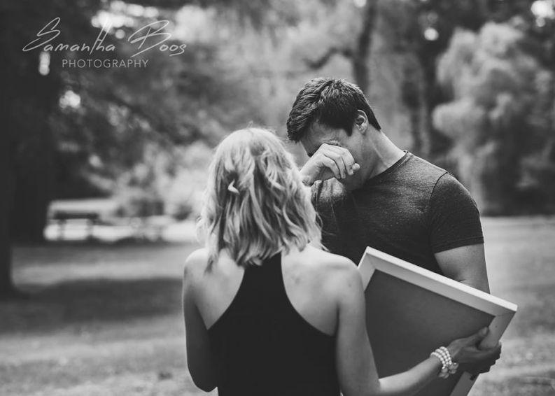Close certo: Mulher arma ensaio fotográfico fake para contar ao marido que está grávida