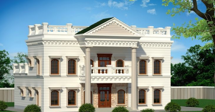 5000 sq ft 5 bedroom palladian style luxury bungalow for Palladian house plans