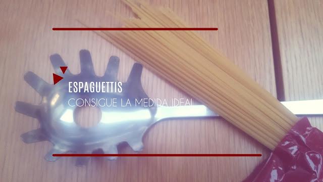 Como medir espaguettis, una ración perfecta.