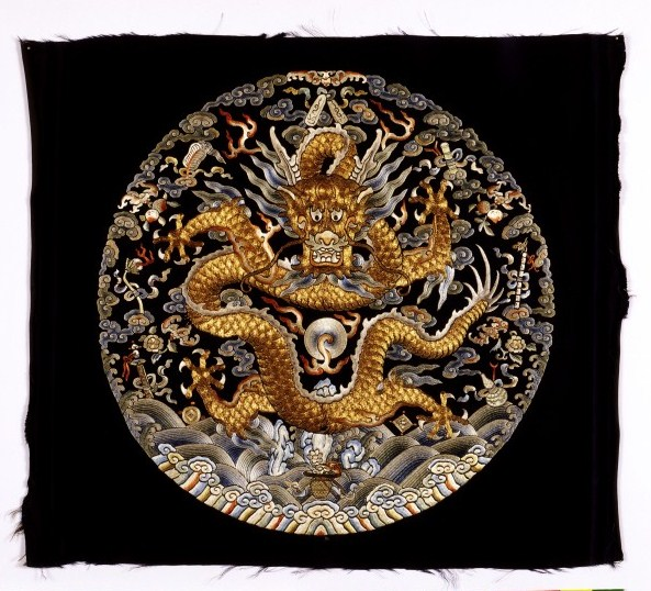 18th century Chinese embroidered roundel