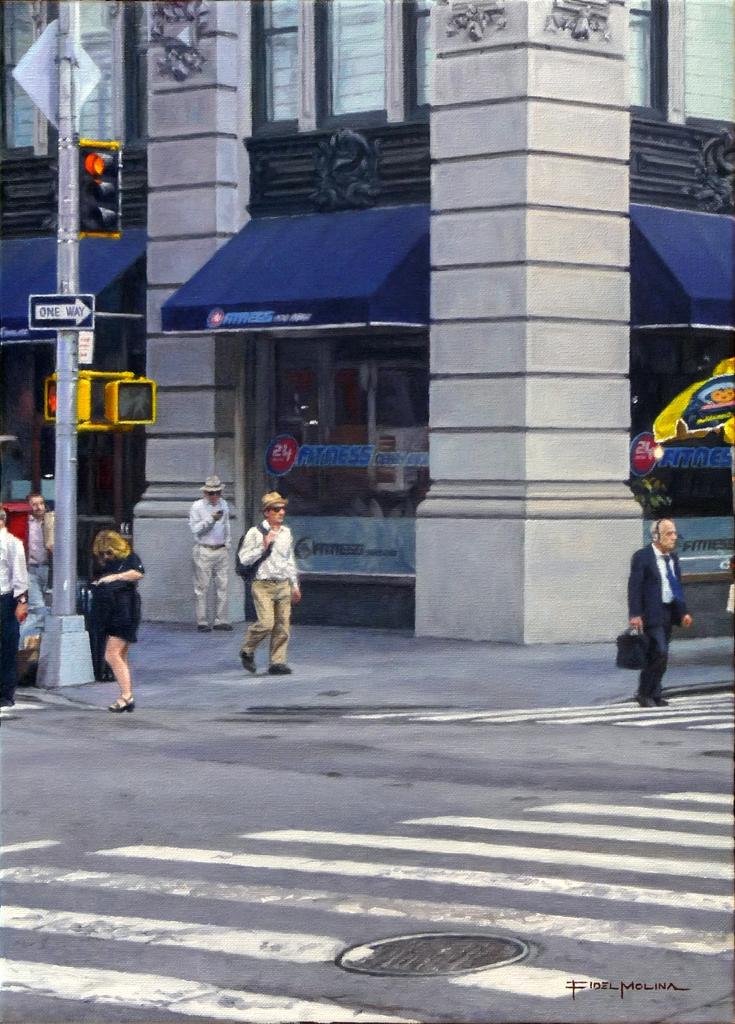 01-Quinta-Avenida-y-la-calle-23-Fidel-Molina-Realistic-Paintings-of-Cities-Frozen-in-Time-www-designstack-co