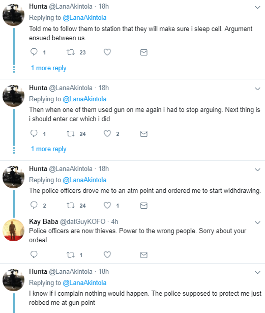 Man narrates how police officers allegedly drove him to an ATM and ordered him to make withdrawals in Lagos