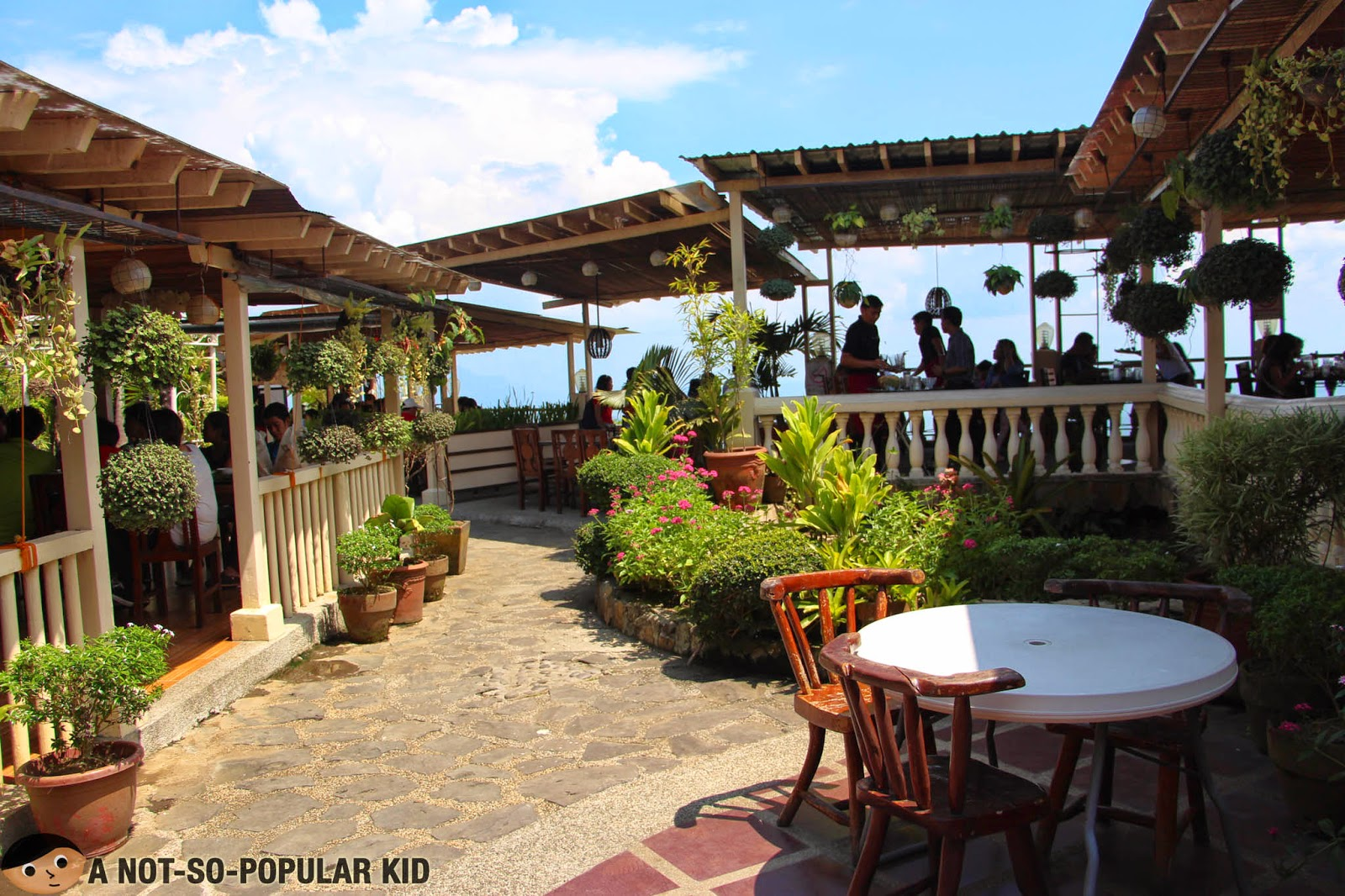The outdoor area of RSM Restaurant in Tagaytay