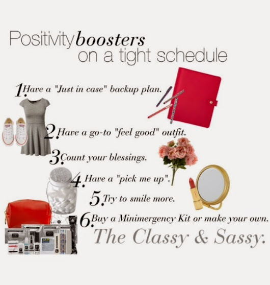 Positivity Boosters on a tight schedule.