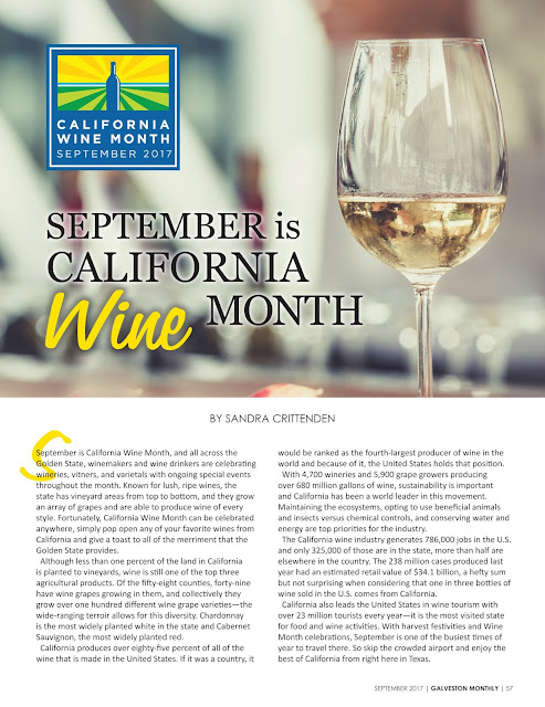 September is California Wine Month
