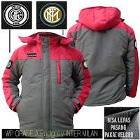 Jual Jaket Bola Waterproof Inter Milan Grade A Logo Velcro