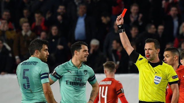 Arsenal Sokratis Papastathopoulos' Red Card Vs Rennes