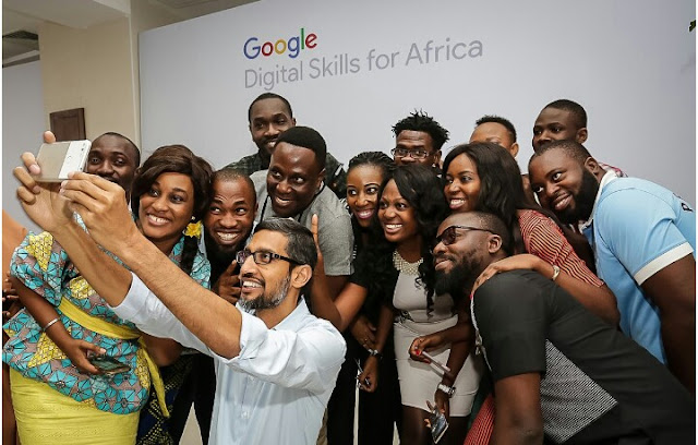 Sundar Pichai The Ceo Of Google Visits Nigeria And To Train 10m Africans