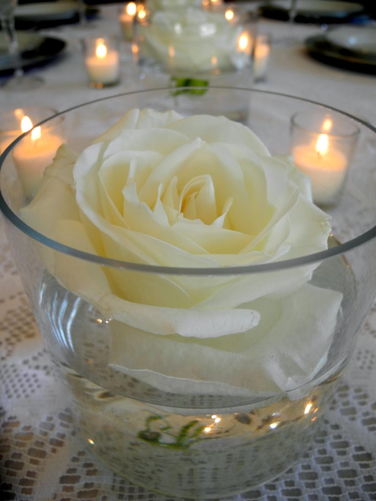 The Flower Girl Blog Floating Roses An Elegant White