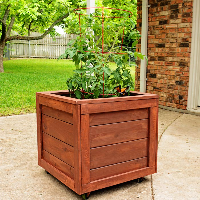 Planter Box with Wheels