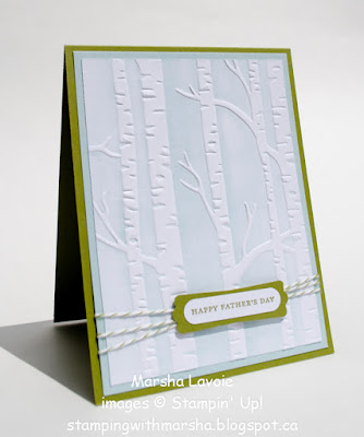 Woodland Embossing folder, happy father's day
