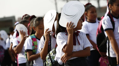 Escolares no deben exponerse al sol más de 15 minutos según el MINEDU
