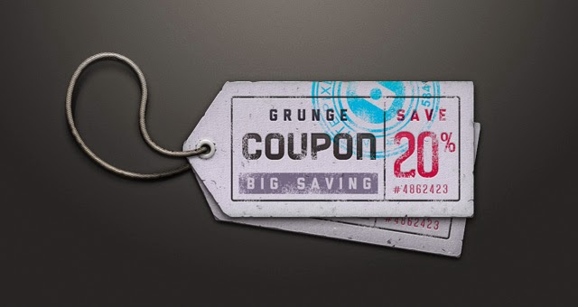 Ticket Coupon Sale Tag