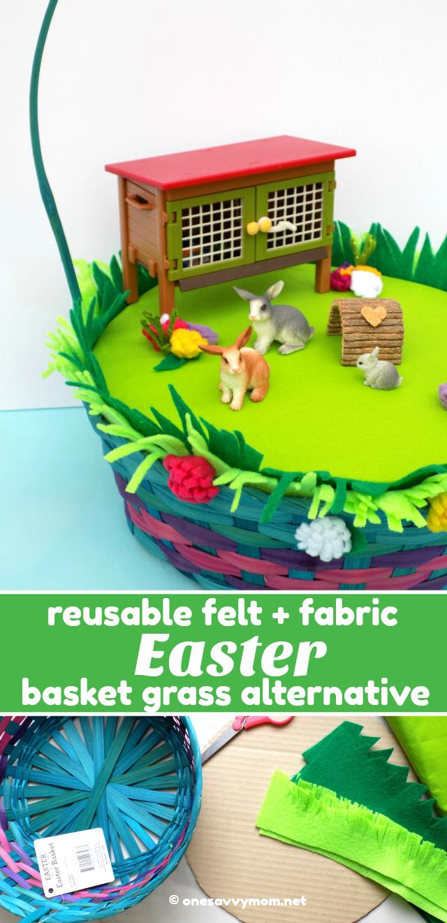 9df166a01b7233 Reusable Felt + Fabric DIY Easter Basket Grass Alternative  ILikeSchleich +  A Fun Contest!