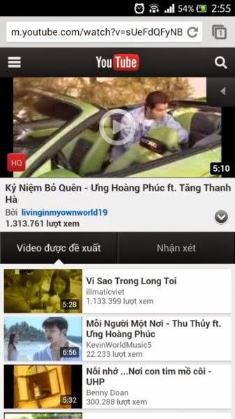 Ứng dụng cho điện thoại di động: Download dễ dàng video từ Youtube