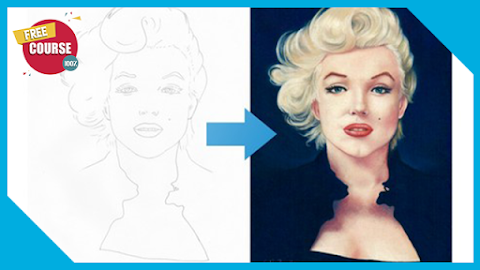 Draw Marilyn Monroe with Pastel Pencils 100% Free Course