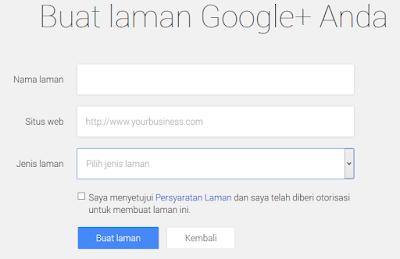 Membuat Fans Page Google+