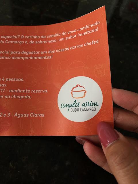 Simples Assim: novo restaurante em Aguas Claras assinado por Dudu Camargo
