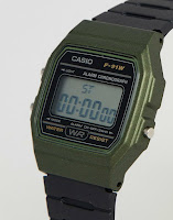 Casio F91WM-3A di lato