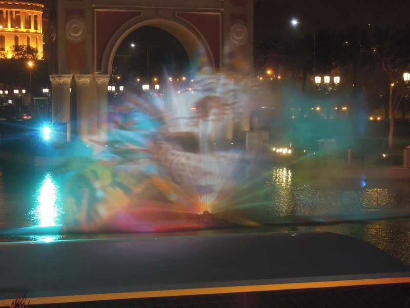 Light show at The Venetian Macao Resort Hotel