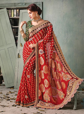 maroon-banarasi-silk-saree-for-wedding-with-blouse