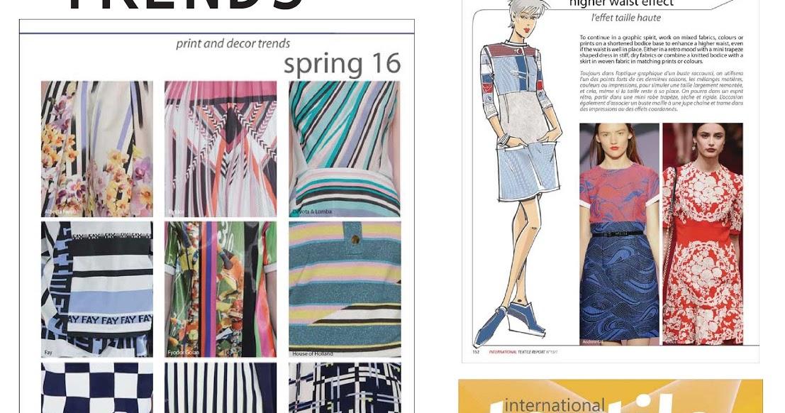 Fashion Vignette Trends Textile Report Spring 2016 Rediscovering Lines