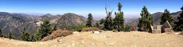 Northern panorama from Mount Islip (8250') toward the Mojave Desert, Angeles National Forest