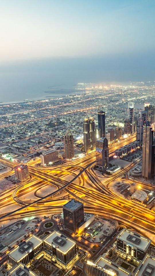Dubai Aerial View   Galaxy Note HD Wallpaper