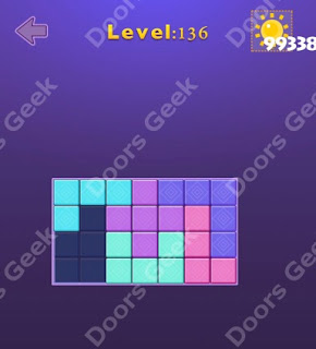Cheats, Solutions, Walkthrough for Move Blocks Easy Level 136