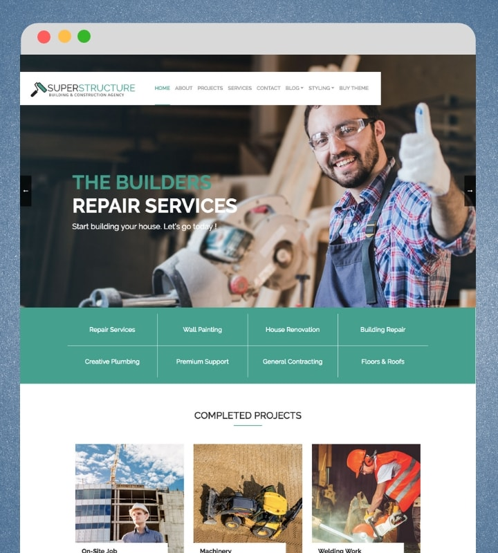 Superstructure (Construction Company Wordpress Theme)
