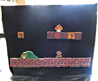 Retro Video Game Cake - Mario Side