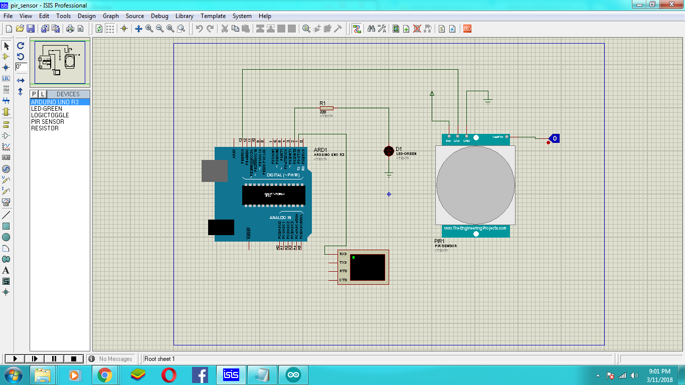 How To Simulate Pir Sensor Using Arduino Uno In Proteus Isis Wiring Diagram For