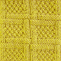 Woven Lattice Stitch (Aka Woven Lattice With Moss Stitfh / Moss Stitch Checks Stitch). Nice-looking stitch