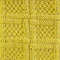 Woven Lattice Stitch (Aka Woven Lattice With Moss Stitfh / Moss Stitch Checks Stitch). Nice-looking stitch