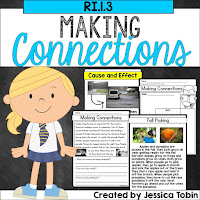 Making Connections in an informational text- activities and lessons to teach connections in technical texts, historical events, or scientific procedures- RI1.3, RI2.3, RI3.3, RI4.3 (RI.1.3, RI.2.3., RI.3.3, RI.4.3)