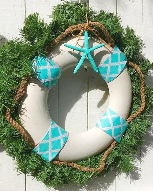 Life Preserver Ring Christmas Wreath