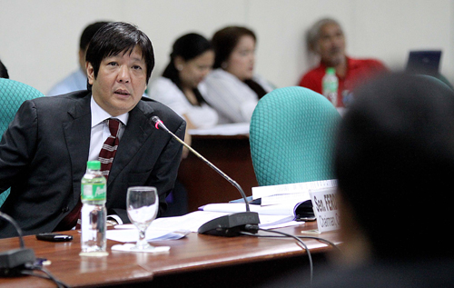 Marcos in action at the senate.