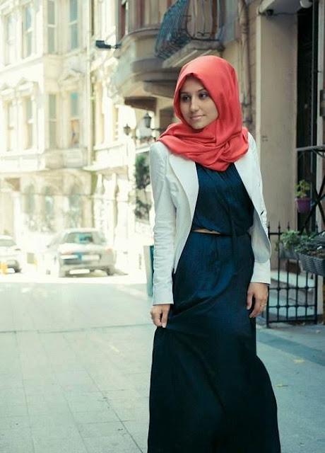 Hijab Dress Style Alloys With Blazer.