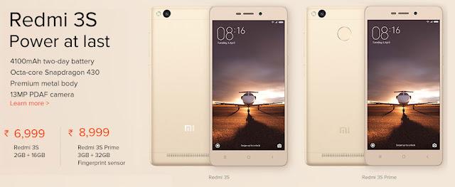Next Sale of Redmi 3S Prime & Redmi 3S