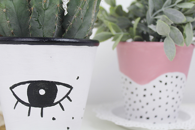 diy pots de fleurs graphiques et minimalistes. Black Bedroom Furniture Sets. Home Design Ideas