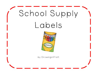 photo relating to Free Printable Classroom Labels titled GrowinginPre-K and K: Totally free Printable Clroom Suppy Labels